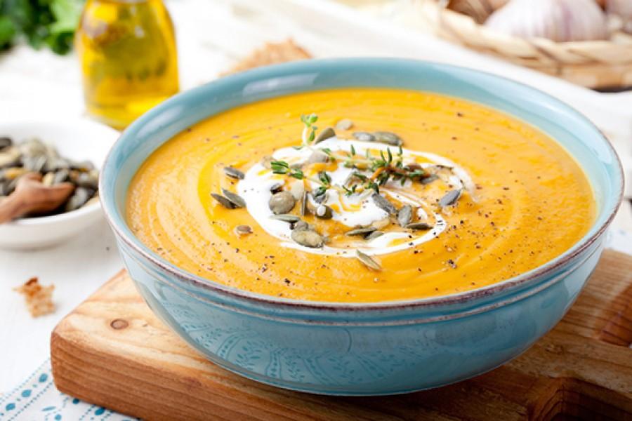 Sütőtökből és sárgarépából készül a legegészségesebb téli leves