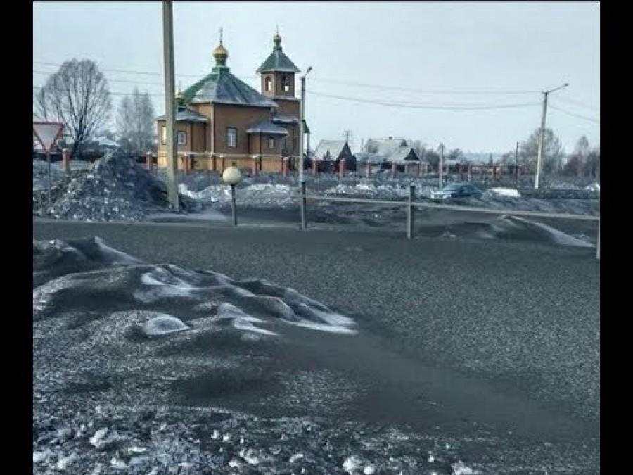 Fekete hó esett Szibériában!