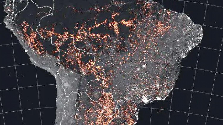 Négyszer több tűz tombol az Amazonas vidékén mint tavaly!