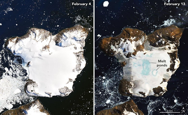 Ilyen még nem volt! Hőhullám az Antarktiszon!