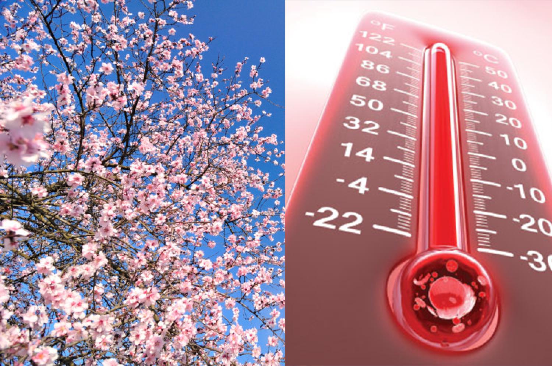 Az idei volt az eddig mért két legmelegebb április egyike
