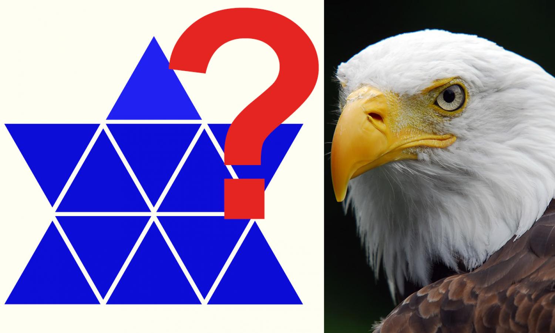Mennyire éles a szemed? Találd meg a más színű háromszögeket!