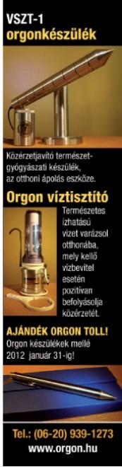 A VSZT - 1 TÍPUSÚ ORGON KÉSZÜLÉKRŐL