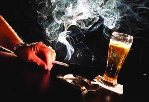 ciaretta és alkohol-ok