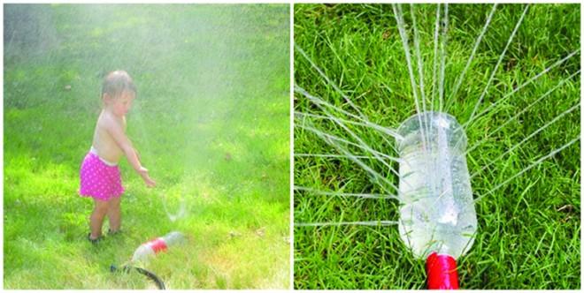 Készíts esőztető öntözőt egy üres palackból