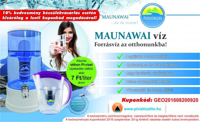 Hogyan készíts Pi-vizet otthonodban?  - MAUNAWAI PI-víztisztító rendszer