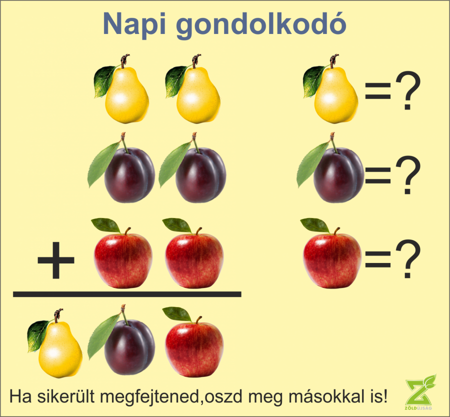 NAPI GONDOLKODÓ 9. MEGOLDÁS