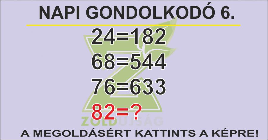 NAPI GONDOLKODÓ 6.