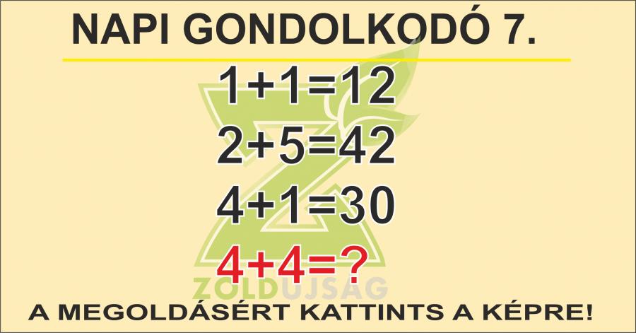 NAPI GONDOLKODÓ 7.