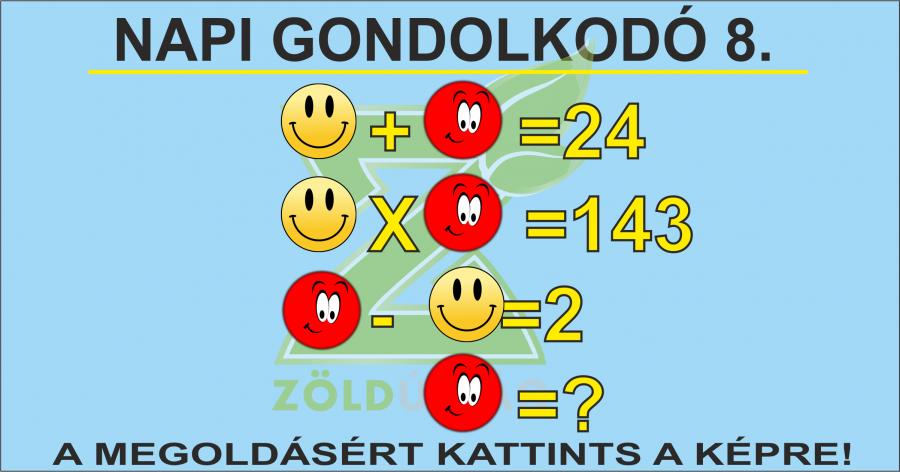 NAPI GONDOLKODÓ 8.