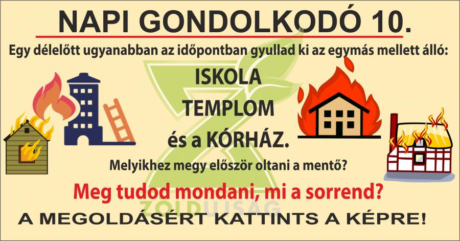 NAPI GONDOLKODÓ 10.