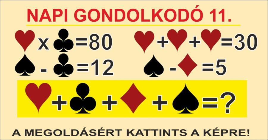 NAPI GONDOLKODÓ 11.