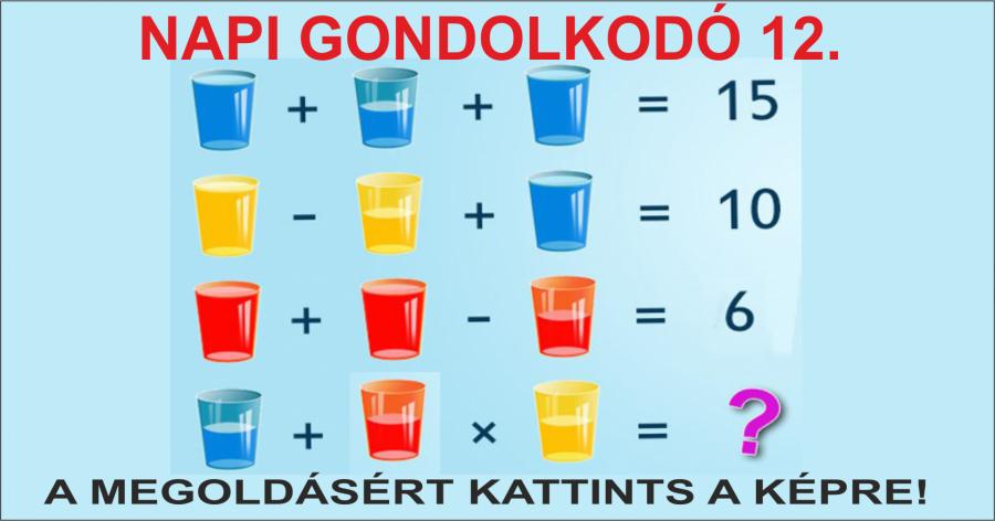 NAPI GONDOLKODÓ 12.