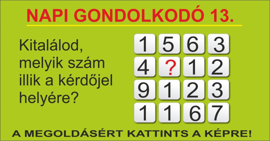 NAPI GONDOLKODÓ 13.