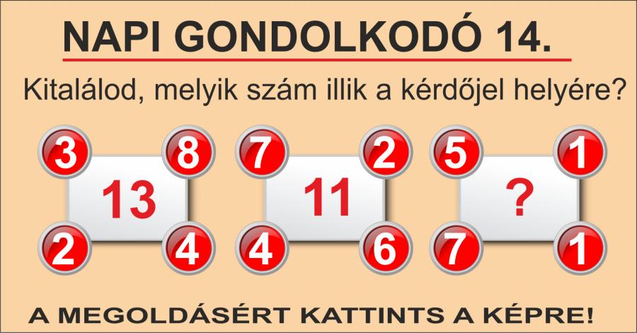 NAPI GONDOLKODÓ 14.