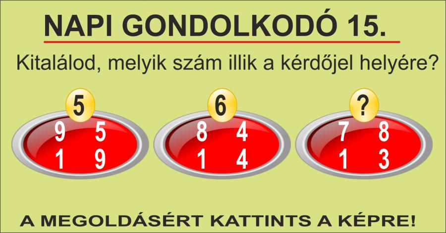 NAPI GONDOLKODÓ 15.