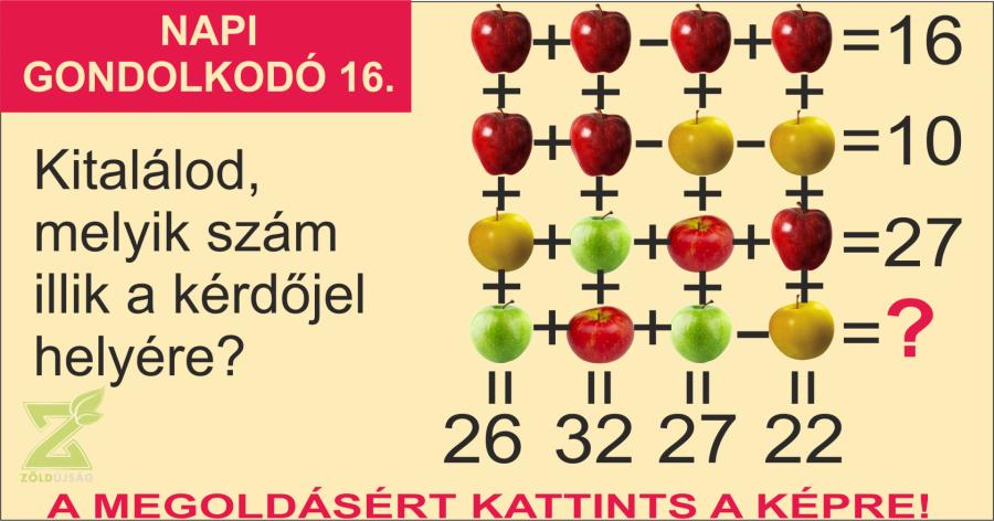 NAPI GONDOLKODÓ 16.