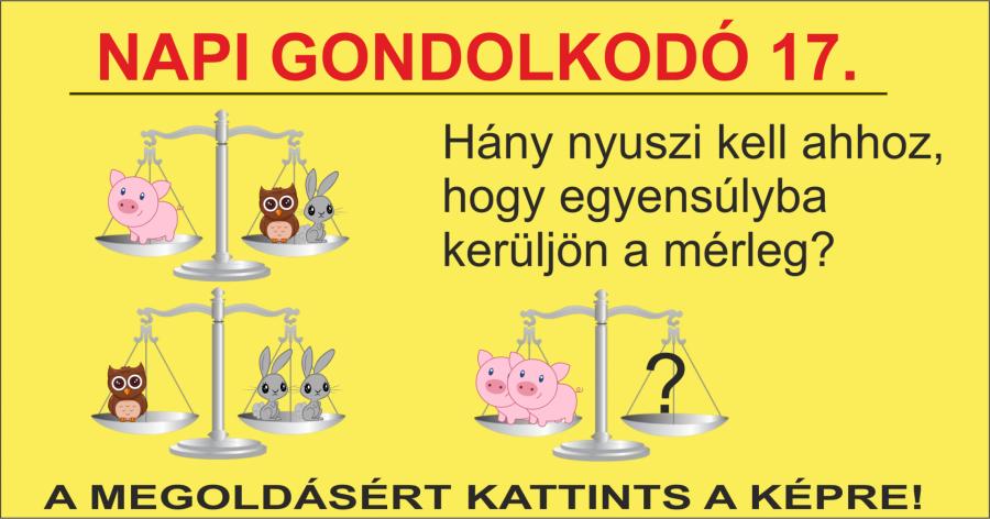 NAPI GONDOLKODÓ 17.