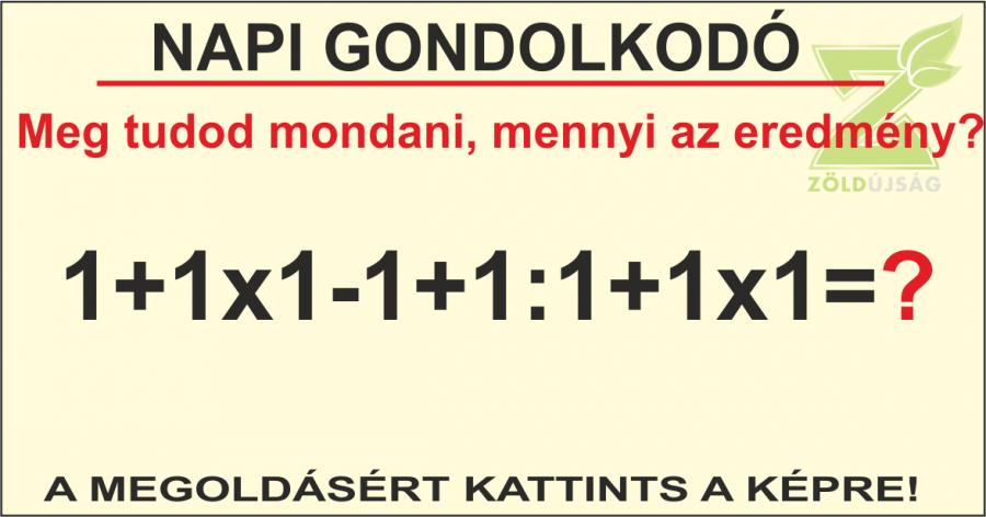NAPI GONDOLKODÓ 19.