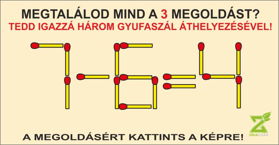 NAPI GONDOLKODÓ 26. megoldás