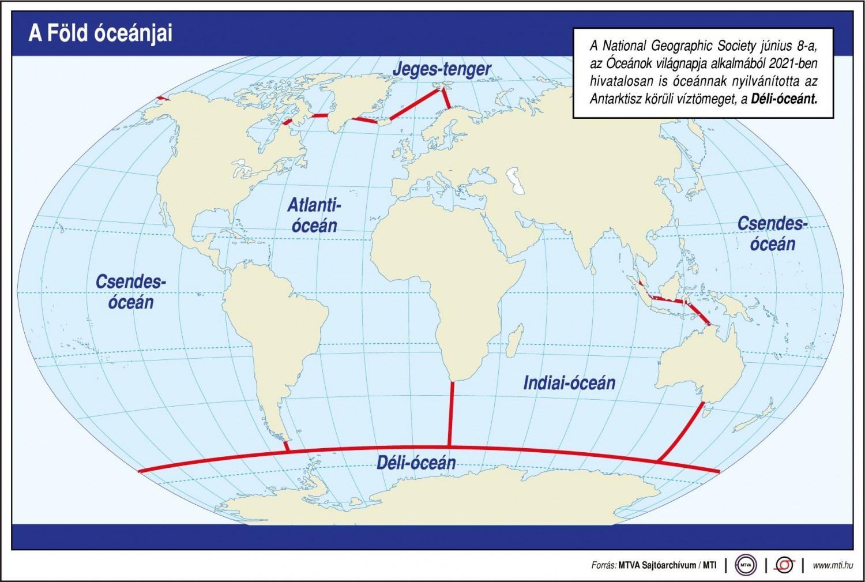 Itt van az ötödik óceán! Bár mi magyarok csak hármat ismerünk!
