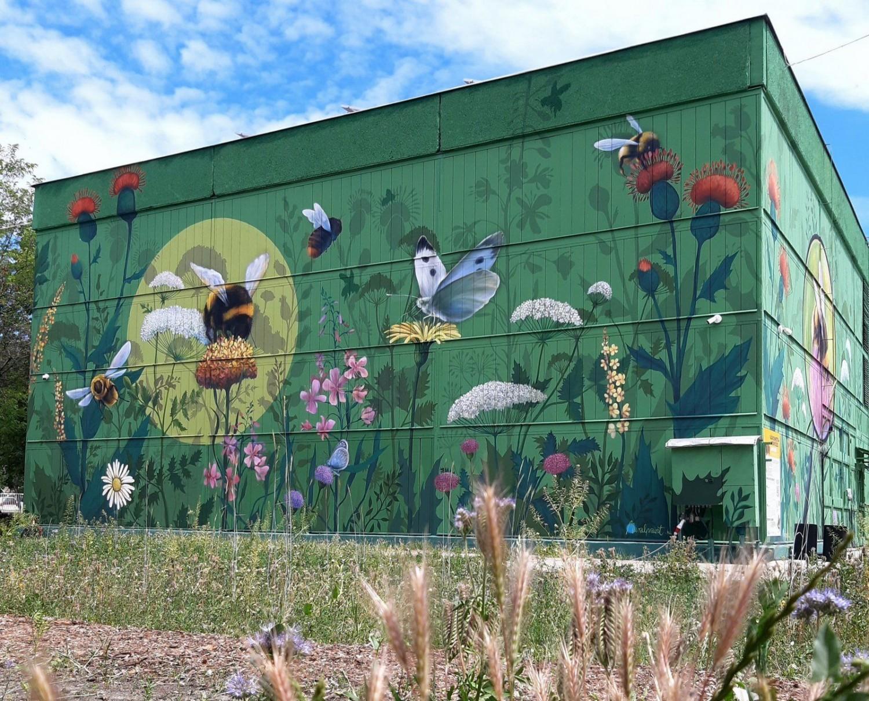 Beporzó hadművelet: óriás falfestménnyel, méhlegelőkkel a városi biodiverzitásért